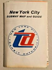 Vintage 1967 New York TA Subway Map Guide NOS