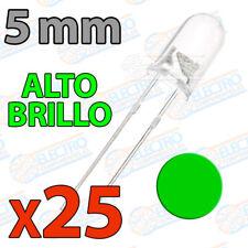 25x LED 5mm VERDE Alto Ultra Brillo ultrabright 20mA diodo diode green