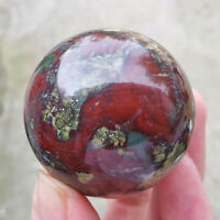 1pc Natural dragon blood stone Quartz sphere Crystal Ball reiki Healing 40mm