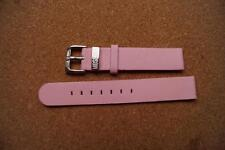 MOSCHINO PINK LEATHER  WATCH STRAP 16MM