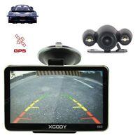 XGODY 5'' Car Truck GPS Free Wireless Rearview Mirror Lifetime UK Map Navigation