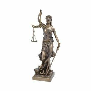 LA JUSTICIA 33cm Nemesis Now Goddess of Justice Mythology Bronzed BNIB FREE P+P