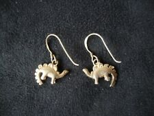 Vintage Stegosaurus Dinosaur Sterling Silver 925 Dangle/Drop Hook Earrings