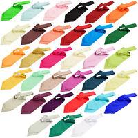 Hommes Cravate Lavallière Foulard Ascot Satin Multicolore DQT
