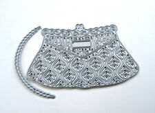 New Tattered Lace Vintage Handbag + handle Deco Purse 2 piece die set 9cm D1230