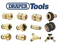 DRAPER TOOLS Brass Hose Pipe Tap Connectors & Fittings - Hozelock Compatible