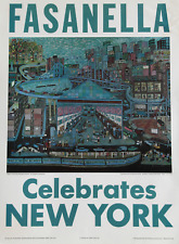 Ralph Fasanella, Fasanella Celebra New York Poster, Poster