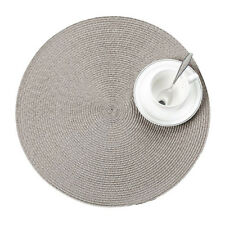 Jacquard Weaved Round Non Slip Placemats Dining Table Mats Pack of 4 6 Wniu 8 Grey