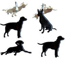 DOG BLACK SILOUHETTE BRADS Puppy Pets Scrapbooking Card Making Stamping