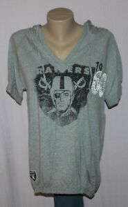Touch Las Vegas Raiders Womens Hooded V-Neck T-Shirt XL - NFL