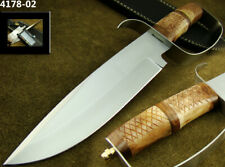 "ALISTAR 12"" CUSTOM HANDMADE STAINLESS STEEL KNIFE D-GUARD BOWIE KNIFE (4178-2"