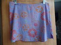 Fresh Produce Splash Womens L / 12 Tectel Blend Swim Skirt Coverup Lavender Posy