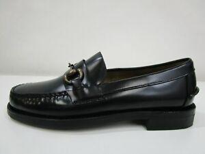 NEW - Sebago Classic Joe Leather Shoes Black Mens Size 7 RRP$259.95