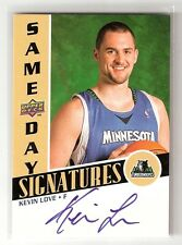 KEVIN LOVE 08/09 upperdeck same-day signatures on card auto rookie #RPS-KL