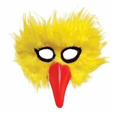 Yellow Big Bird Mask Red Beak Masquerade Adult Fancy Dress Chicken