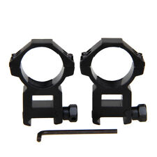 2x Tactical High Profile 30mm Ring 21mm Dovetail Rail Scope Mount F Rifle Scope