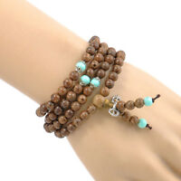 1Pc Tibetan Sandalwood Buddhist Buddha 108 Prayer Beads Mala Bracelet Necklace
