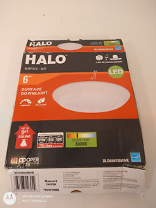 Halo BLD606930WHR White Surface BLD Ceiling Mount Downlight 6in Light
