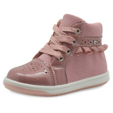SPRING AUTUMN BABY INFANTS KIDS GIRLS ZIP ANKLE BOOTS BRIDAL WEDDING PARTY SHOES