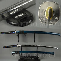 Blue Japanese Samurai Sword Handmade High Carbon Steel Katana Blade Very Sharp