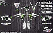 YZF 250 2010 MX motocross graphics decals kit 2010-2013 YZ250F stickers 2012 YZF