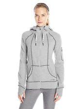 HEAD Womens High Altitude Rib Mix Hoodie, Grey Heather, Extra Small, Brand New
