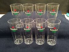 Heineken Polycarbonate Pint Glasses x8 New And Unused