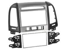 für HYUNDAI Santa Fe Auto Radio Blende Einbau Rahmen Doppel-DIN schwarz matt