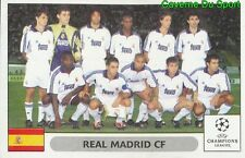 001 TEAM SQUADRA REAL MADRID STICKER PANINI UEFA CHAMPIONS LEAGUE 2000-2001