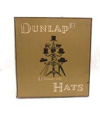 Vintage Mens Dunlap Hat Box Large Squareish w/ Insert 13 x 14