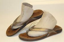 OluKai Kumu 01285-00 Womens 5 35 Bronze Leather Slip On Slides Sandals Shoes