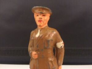 Vintage BARCLAY Lead Toy Soldier B81a Army Doctor in Brown