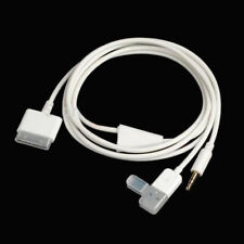 3FT 30 pin Dock to USB AUX 3.5mm Audio Cable for iPhone 4S 3GS iPod Touch