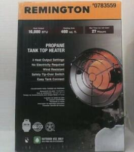 Remington RGTB-600 16,000 BTU Single Tank Propane Portable Heater $79.99