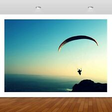 Paragliding Parachute Extreme Sports Mural Decal Wall Sticker Poster Vinyl S307
