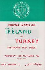 REPUBLIC OF IRELAND v TURKEY ~ EURO CHAMPIONSHIP ~ 16 NOVEMBER 1966 ~ EXCELLENT!