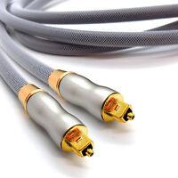 2m Gold PLATINUM OPTICAL CABLE DIGITAL AUDIO Lead TOSLink SPDIF Surround Sound