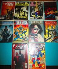 10 Comic Books Terminator1-4 Punisher Hellstorm Planet Of The Apes + Excellent