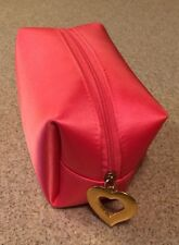 YSL Yves Saint Laurent Pafums Pink Cosmetic Bag Pouch Gold Heart Zipper #8140-5
