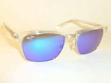 30456a1dad7 Authentic Polarized MAUI JIM KAWIKA Sunglasses Blue Lens B257-05CR Crystal  Frame