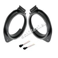 Adattatori altoparlanti Casse 165 mm + connettori  per Opel Astra J anteriori/po