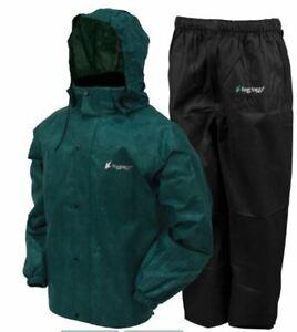Frogg Toggs All Sport Rain Suit,  XL, Green Jacket w/ Black Pants, new, 2918