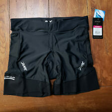 "ZOOT - Women's XL Tri Shorts Performance 6"" Triathlon Black X-Large Cycling Run"