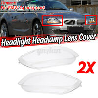 Replaces For BMW Z4 2003-2008 Left + Right Clear Headlight Headlamp Lens
