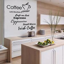 Wandtattoo W198 Kaffee, Kaffetraum, Latte Macchiato, sehr stylisch für die Küche