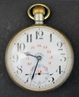 "Vintage Brevet Men's Pocket Watch Swiss Made 2.5"""