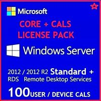 Microsoft Windows Server 2012 R2 STANDARD + 50 USER CALs + 50 DEVICE CALS