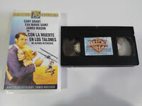 Death IN los Heels Cary Grant Alfred Hitchcock VHS Tape Spanish