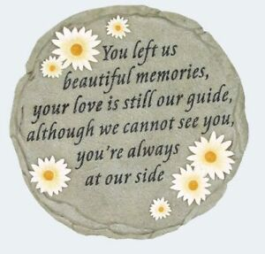 Beautiful Memories Resin Stepping Stone Wall Plaque, NIB [13003] by Spoontiques