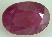 A PAIR OF 5x3mm OVAL-FACET DEEP RED/PURPLE NATURAL INDIAN RUBY GEMSTONES